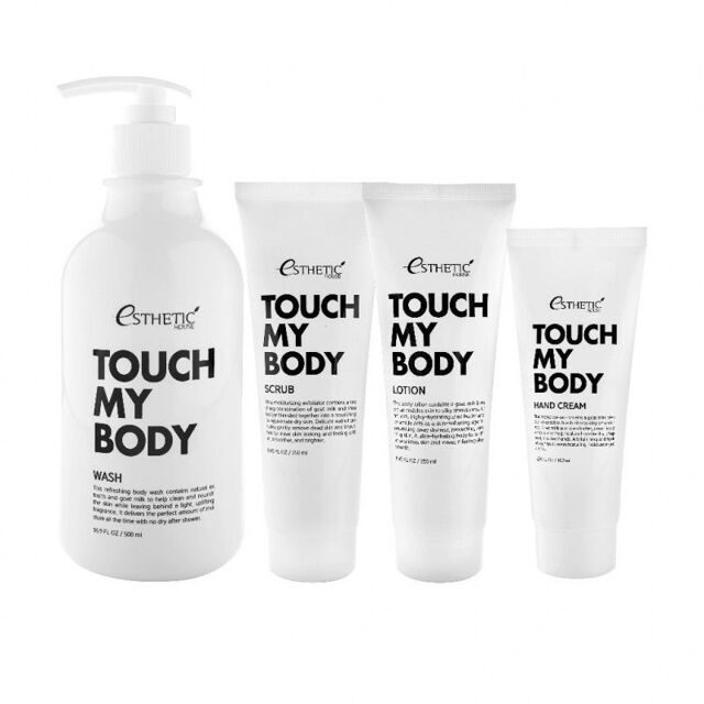 ESTHETIC HOUSE Набор для тела TOUCH MY BODY GOAT MILK BODY WASH 100